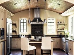 Vaulted Kitchen Ceiling Beautiful Vaulted Kitchen Ceiling Lighting Design And Decoration
