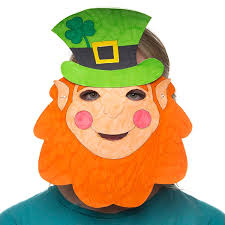 template of a leprechaun leprechaun mask free craft ideas baker ross