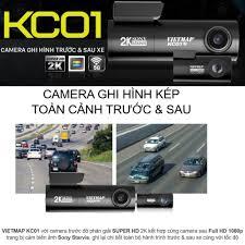 Camera hành trình Vietmap KC01 ghi hình kép trước và sau xe - Bảo hành 12  tháng chính hãng