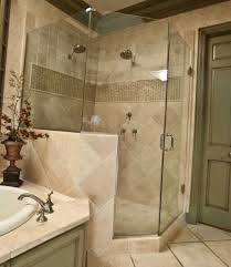 The combination of small tiles and mosaic in the shower area looks chic in  contrast with the large tiles installed beautifully and professionally in  the ...
