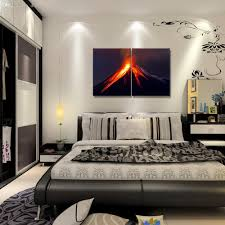 Modern Art Bedroom 2017 A Volcano Spouts Flame And Lava Painting Modern Wall Oil Art