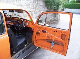 beetle vw vwbug vwbeetle broken orange car door
