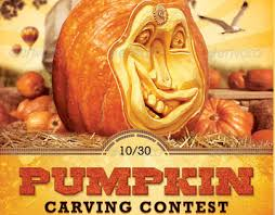 pumpkin carving contest flyer pumpkin carving contest charity flyer template on behance