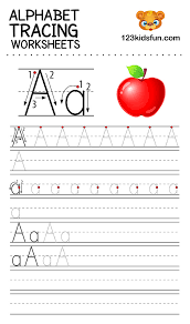 Kids can have fun and learn by identifying the alphabet letters and color an adorable animal for each letter of the size: Alphabet Tracing Worksheets A Z Free Printable For Kids 123 Kids Fun Apps