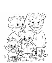 Daniel Tiger Coloring Pages Dad Mom And Sister Get Coloring Page