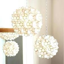 lotus flower chandelier pendant large capiz shell