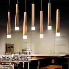pendant lighting island. LukLoy Wood Stick Pendant Lamp Lights, Kitchen Island Living Room Shop Decoration, Modern Natural Lighting S