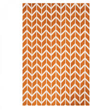 arlo ar07 chevron orange geometric rug by asiatic 2