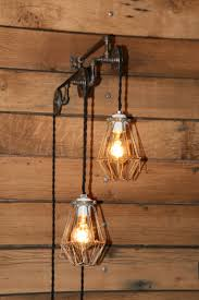 industrial style pendant lighting. Industrial Pulley Light Wall Sconce - Trolley With Hanging Pendant Lights Lighting Style T