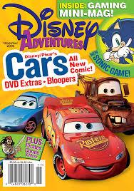 cars the movie cover. Fine Movie Disney Adventures Magazine Cover November 2006 Cars Moviejpg Throughout The Movie Cover I