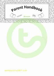 Parent Handbook Template Gallery - Template Design Ideas