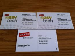 Ideas Of Business Card Collector Staples South Plainfield Nj
