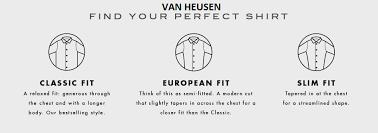 Van Heusen Size Chart Mens Shirt Size Guide Van Heusen Mens Shirts Size Chart