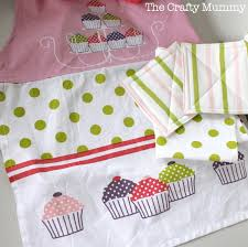 kids kitchen set a tea towel pot holders