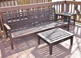 BonnieProjects Refinishing wood patio furniture