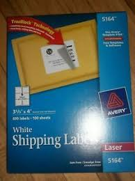 Avery 5164 Labels Details About Avery Shipping Labels 5164 Trueblock Technology Laser 3 1 3 X 4 White 600 Box