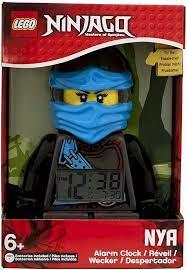 LEGO Lego Ninjago – Alarm Clock Time Twins Nya – Blue and Black: Amazon.de:  Uhren