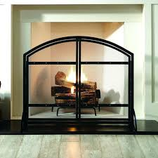 pleasant hearth fireplace pleasant hearth fireplace doors with arched fireplace screen with light wood flooring for