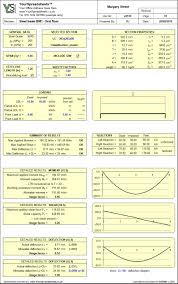 Free Steel Beam Design Calculator Steel Beam Design Spreadsheet To Bs 5950