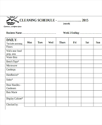 Housekeeping Schedule Chart House Chores Schedule Housekeeping Template Daily Hotel Checklist