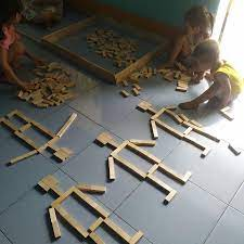 Bộ gỗ xếp hình, đồ chơi rút gỗ thông minh rèn tư duy cho bé loại đẹp - (Rút  gỗ + xếp hình + Domino) chính hãng 36,000đ