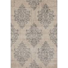 world rug gallery transitional damask high quality soft gray 5 ft x 7 ft area rug 800 grey 5 3 x 7 3 the home depot