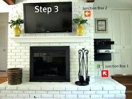 how high to hang tv how to mount a on brick fireplace place in decor how how high to hang tv how high to mount tv above gas fireplace