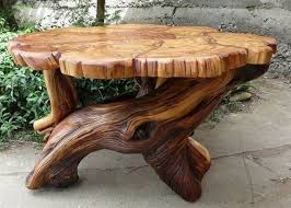 Tree Stump Table Ideas_5