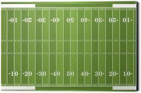 grass american football field. Textured Grass American Football Field Aluminium Print (Dibond)