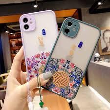 Trung Quốc Gió Phù Hộ Cho iPhone 12 11 Pro Max 7 8 Plus XS Max XR X Điện  Thoại Ốp Lưng|Túi Đựng Điện Thoại