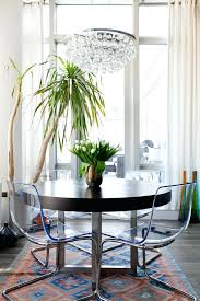 houzz round dining table chandelier dining room eclectic with round dining table clear chairs houzz dining