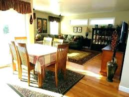 dining area rug under room table carpet kitchen on image of best rugs or no round