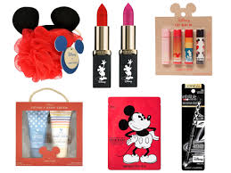 there are also plenty of beauty items too because one can never have too many mickey mouse lipsticks or face masks