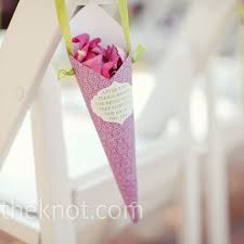 Paper Cones For Flower Petals Colorful Paper Cones Filled With Flower Petals For Guests To Throw