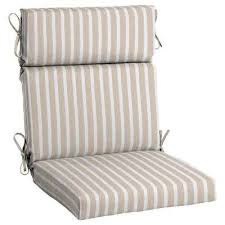 outdoor dining chair cushions. Sunbrella Shore Linen High Back Outdoor Dining Chair Cushion Cushions