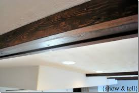 beautiful faux wood beams for your