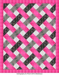 463 best Woven / Interlocking Look images on Pinterest | Dreams ... & Easy woven pattern -- triangles Or could be made with squares into 9 patch  blocks, trimmed and setting triangles to put it on point. Only needs  fabrics to ... Adamdwight.com