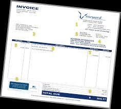 Company Invoice Vineyard Oil Gas Company How To Read My Invoice
