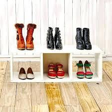 white shoe rack storage bench cubes organizer closetmaid stackable 3 shelf instructions