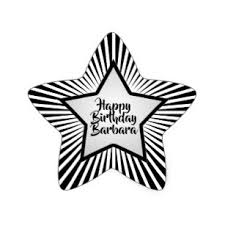 Black And White Happy Birthday Stickers Zazzle