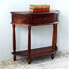 half moon end table half moon end table half moon wall table in walnut stain billy half moon end table