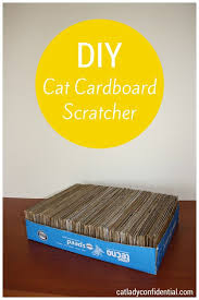 diy cat cardboard scratcher for more diy projects for cat lovers visit http cat lovers 27 diy solutions