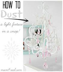 how to dust a chandelier or light fixture in a snap