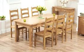 oak dining room table and chairs dinette set kitchen round uk