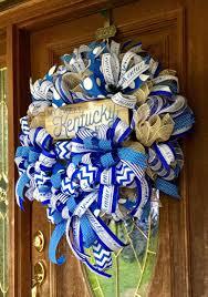 Wreaths By Design Walker La Kentucky Front Door Wreath Sport Decor Kentucky Home Decor