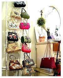 organizing purses in closet purse hanging handbag organizer closet hanger