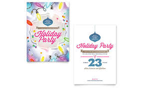 Christmas Party Flyer Templates Microsoft Holiday Party Invitation Template Word Publisher
