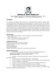 Sample Resume Qa Tester Free Resume Templates Manual Qa Tester Cv