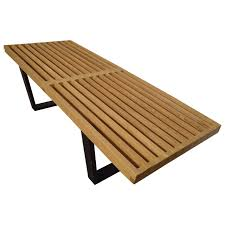midcentury george nelson slat bench for herman miller for sale at