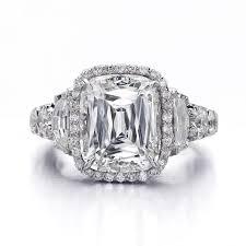 Christopher Designs Ring Crisscut Cushion Cut Engagement Ring